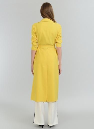 People By Fabrika Uzun Ceket Sarı